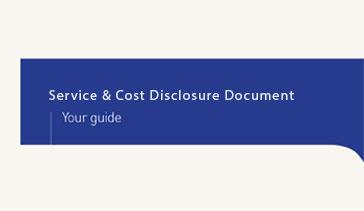 Service & Cost Disclosure Document